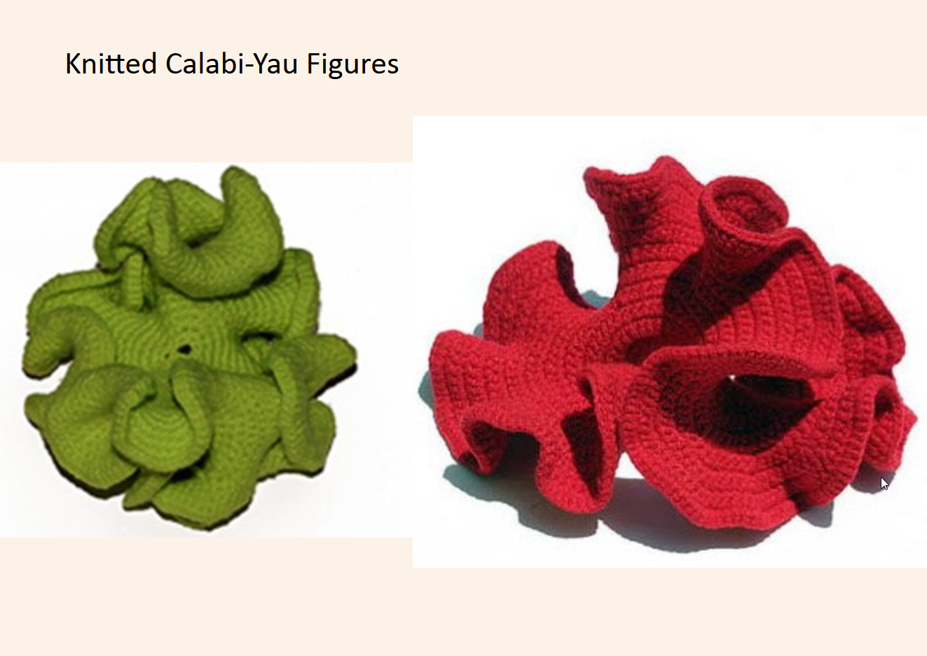 Image result for knitted calabi yau space